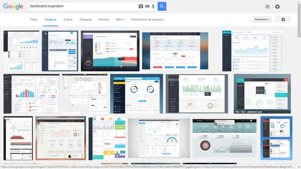 Google Images - Dashbord Inspiration