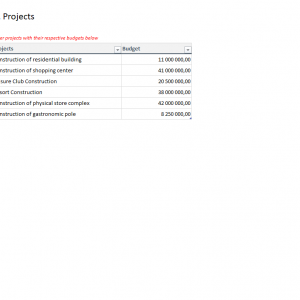 Simple Project Expense Tracking Template 2.0 - Settings