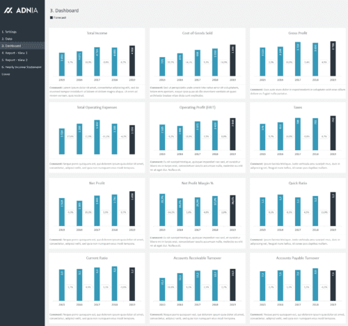 Yearly Financial Comparison Report Template - Yearly Financial Dashboard
