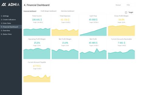 Financial KPI Dashboard Template - Financial Dashboard