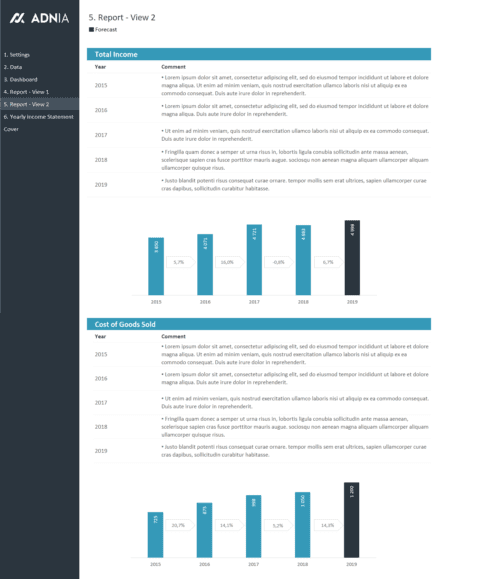 Yearly Financial Comparison Report Template - Yearly Financial Report 2