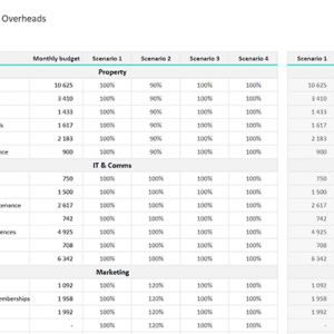 01 Financial Scenario Planner Template - Overheads
