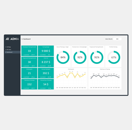 HR Training Dashboard Excel Template - cover