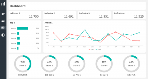 Excel Dashboard Layout Duo Theme 01 - Light