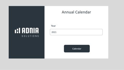 Free Annual Calendar - Settings