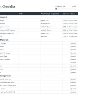 Free Event Checklist Template
