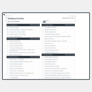 Free Wedding Checklist Excel Template