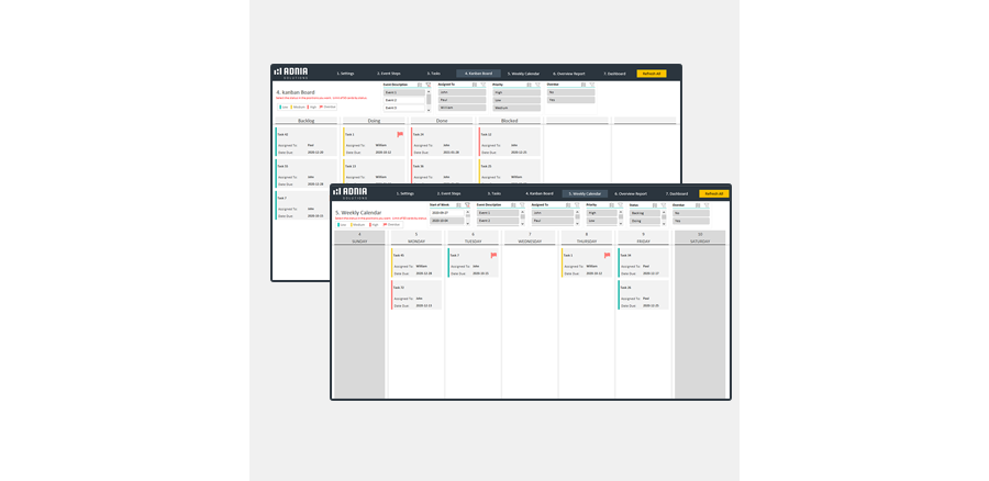 Event Planning Excel Template